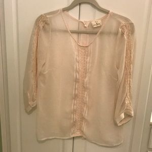 Nude pink blouse size medium
